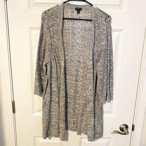 Torrid Women's Plus Size Grey Long Line Knit Cardigan 3x